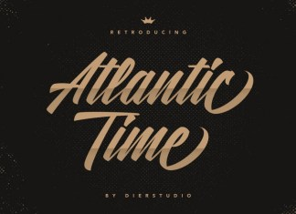 Atlantic Time Script Font