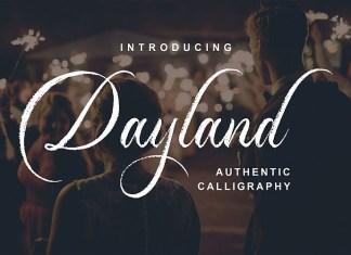 Dayland Calligraphy Font