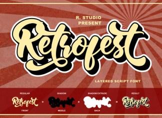 Retrofest Script Font