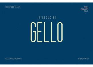 Gello Display Font