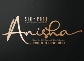 Anisha Handwritten Font