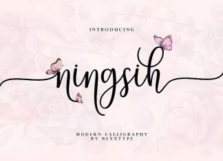 Ningsih Script Font