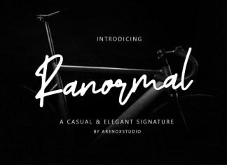 Ranormal Signature Font