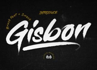 Gisbon - Brush Font