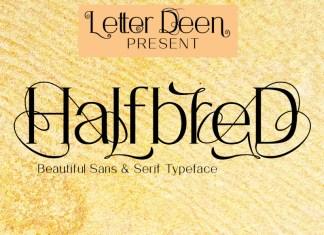 HalfbreD Font