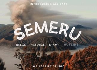 Semeru - Handwritten Sans Font