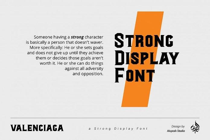 Al Valenciaga Display Font