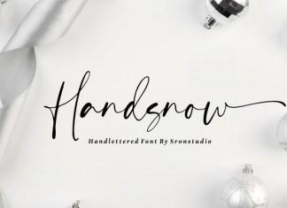 Handsnow Handlettered Font