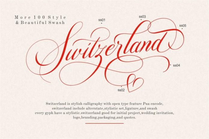 Switzerland Font