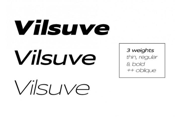 Vilsuve Font Family