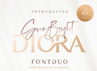 Diora Sunbright Font Duo