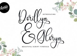 Dorillya & Glorya Script Font