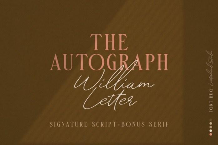 William Letter Signature Font