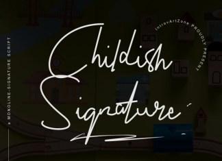 Childish Signature Font