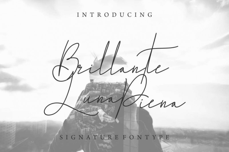 Brillante Luna Piena Signature Font