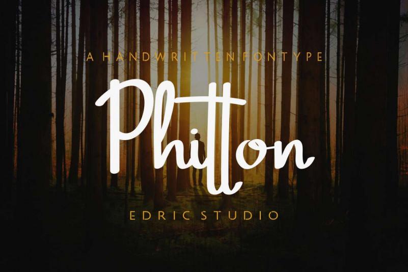 Phitton Handwritting Font