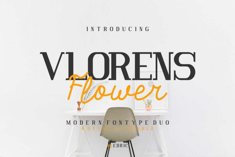 Vlorens Flower Fonts Duo