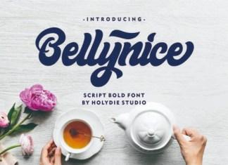 Bellynice Bold Script Font