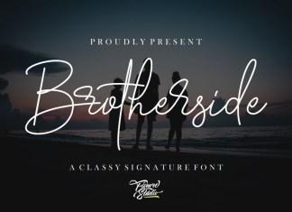 Brotherside Signature Font