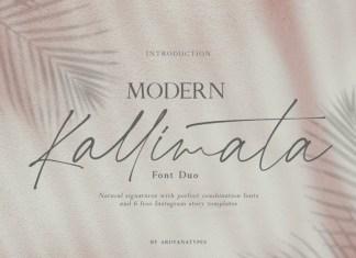 Modern Kallimata Font Duo