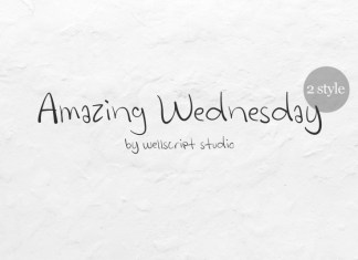 Amazing Wednesday - Handwritten Font