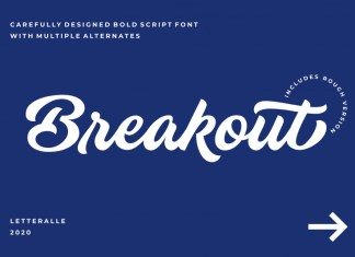 Breakout Script Font
