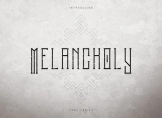 Melancholy Display Font + Extra