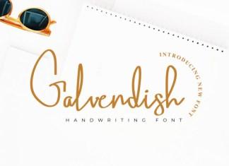 Galvendish Handwritten Font