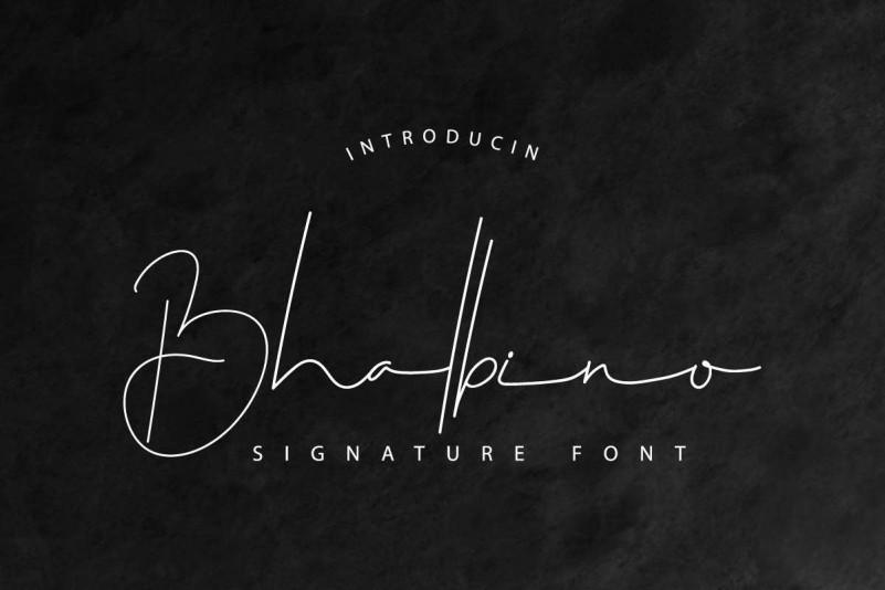 Download Bhalbino Signature Font - Befonts.com