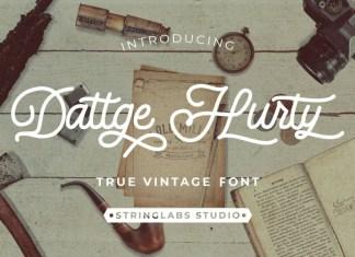 Dattge Hurty - Monoline Retro Font