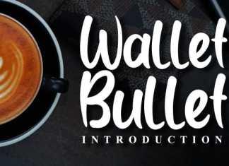 Wallet Bullet Script Font