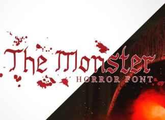 The Monster Horror Font
