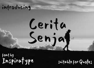 Cerita Senja - Quotes Font