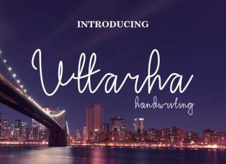 Uttarha Handwriting Font
