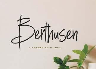 Berthusen Handwritten Font
