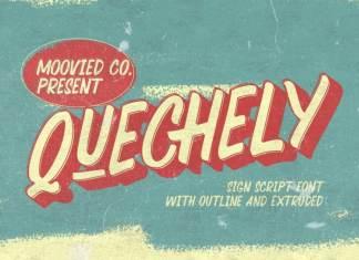 Quechely Sign Retro Font