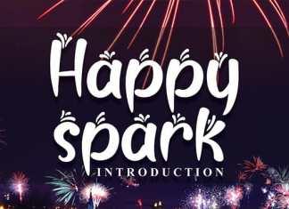 Happy Spark Display Font