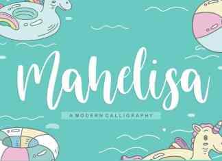 Mahelisa Modern Calligraphy Font