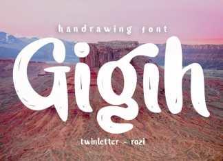 Gigih Brush Font