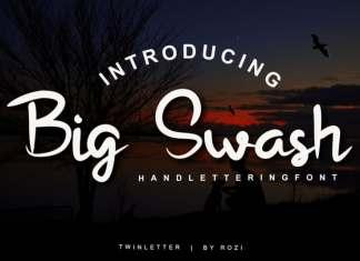 Big Swash Script Font