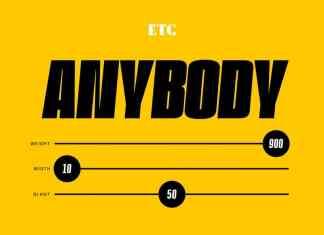 ETC Anybody Font Family