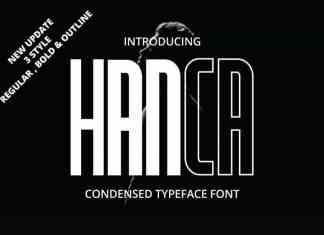 Hanca Display Font