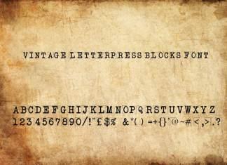 Vintage Letterpress Blocks Font