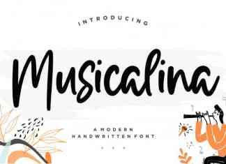 Musicalina Modern Handwritten Font