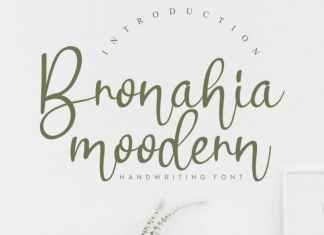 Bronahia Handwritten Font