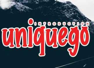 uniquego Display Font