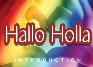 Hallo Holla Handwritten Font