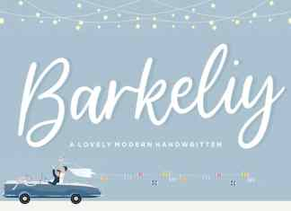 Barkeliy Lovely Handwritten Font