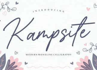 Kampsite Monoline Script Font