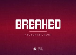 Breaked Display Font